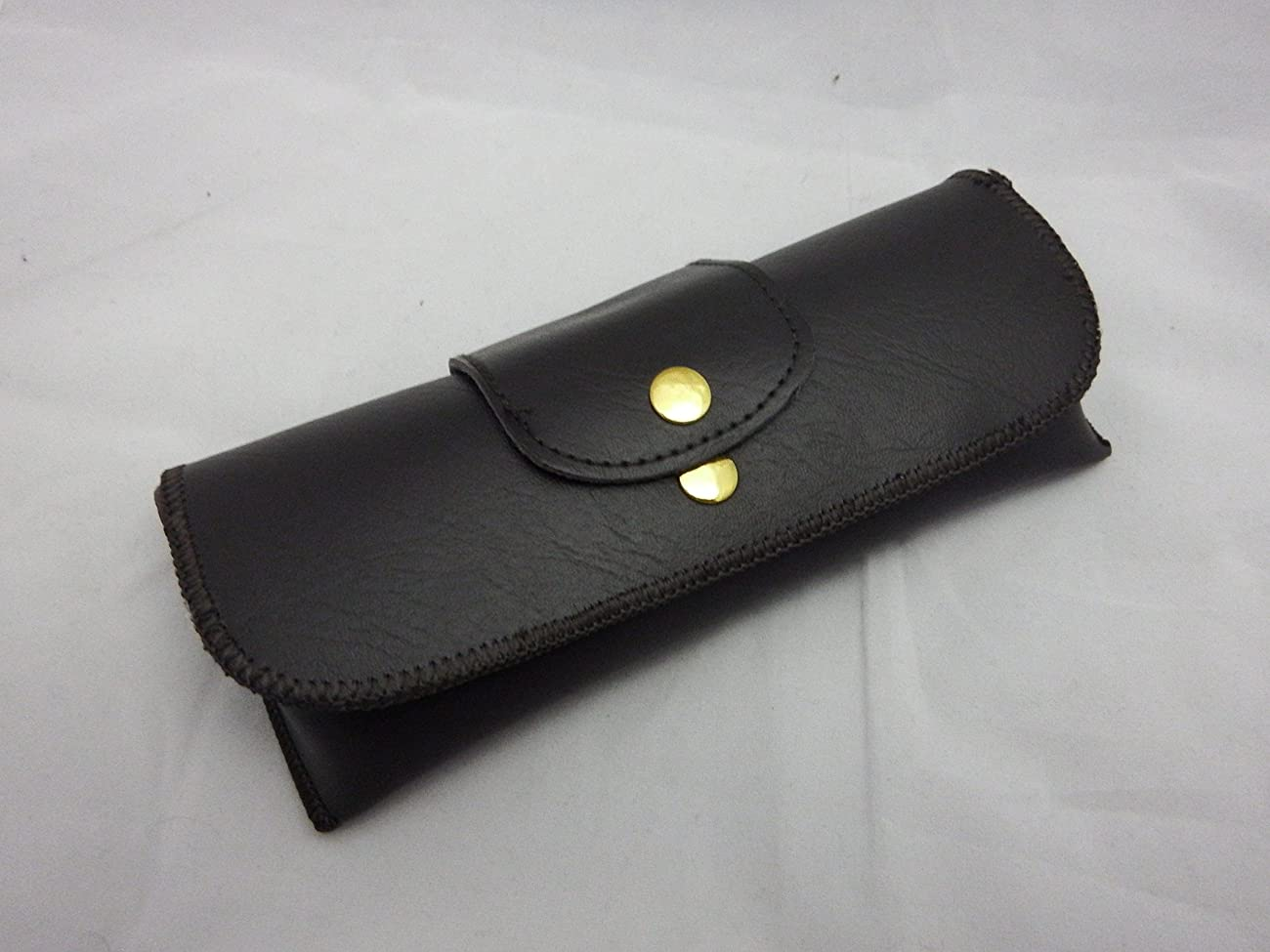 OverStock Blowout Sale Brown Double Snap Belt loop eyeglass case 0