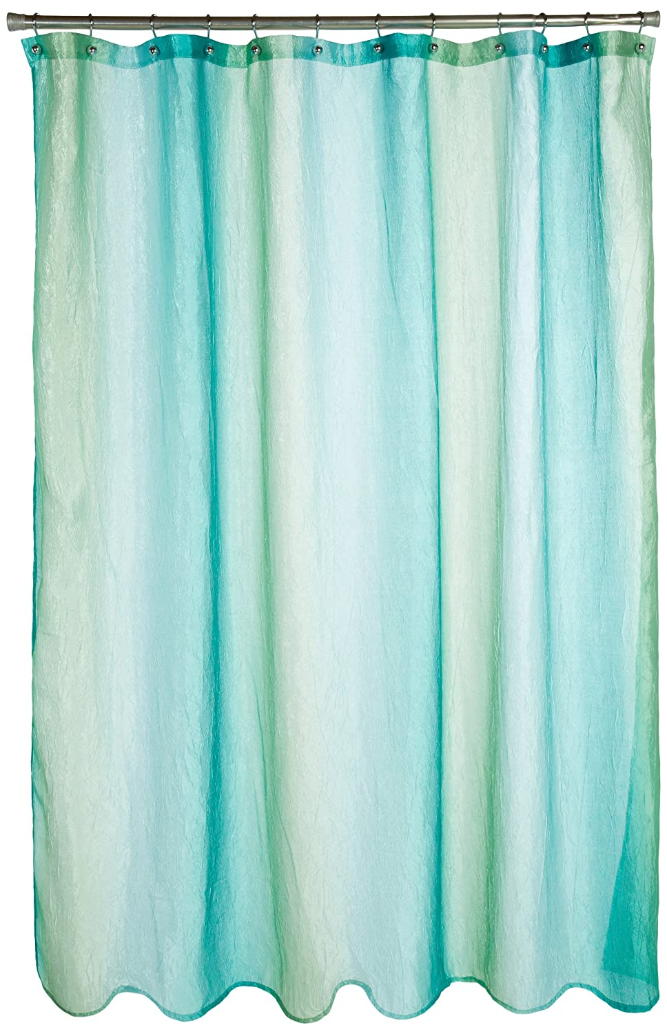 Teal And Green Shower Curtain Chocolate and Teal Shower C