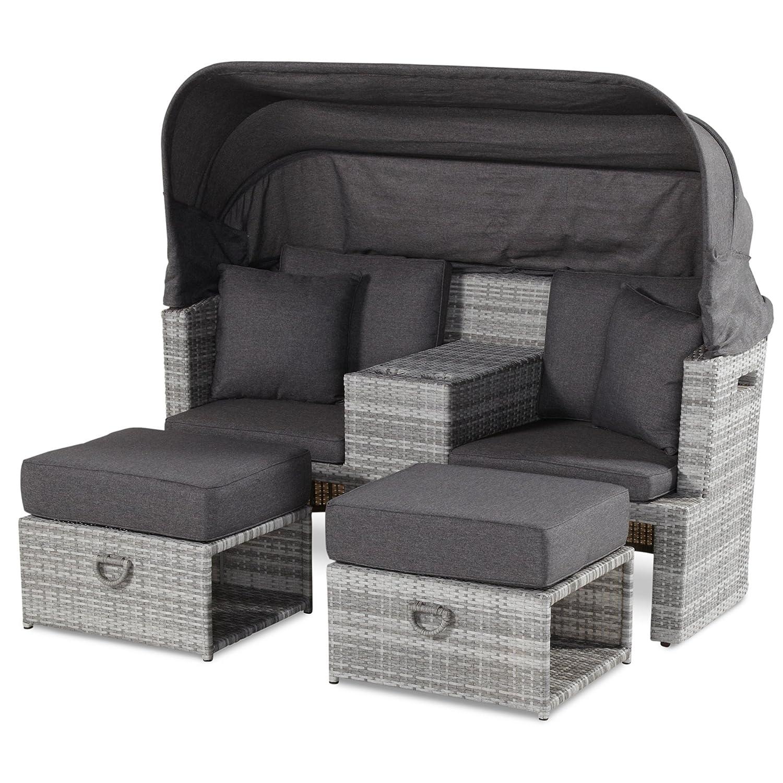 Hartman Turtle Loungesofa Strandkorb Sessel 2Sitzer royal grey flat 72296799 günstig online kaufen