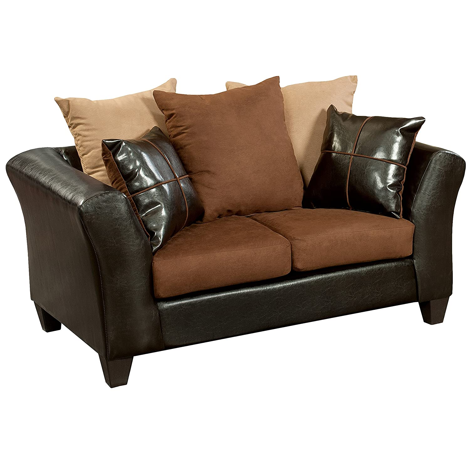 Flash Furniture Riverstone Sierra Chocolate Microfiber Loveseat - Brown