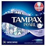 Tampax Pearl Plastic Tampons, Light Absorbency, Unscented, 36 Count - Pack of 2 (72 Total Count) (Packaging May Vary) (Color: Lite - Pack of 2, Tamaño: 36)