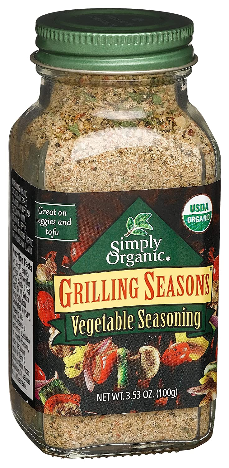 Simply Organic Organic Grilling Seasons Vegetable Seasoning Certified Organic, 3.53-Ounce Container savannah bee company natural and organic peach blossom shimmer lip tint 0 09 ounce