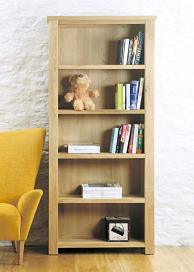 Aston Oak Large Open Bookcase Brown - Baumhaus