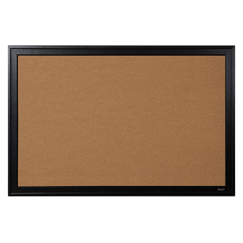 "Quartet Bulletin Board, Cork, 24""x36"", Black Frame (13769)"