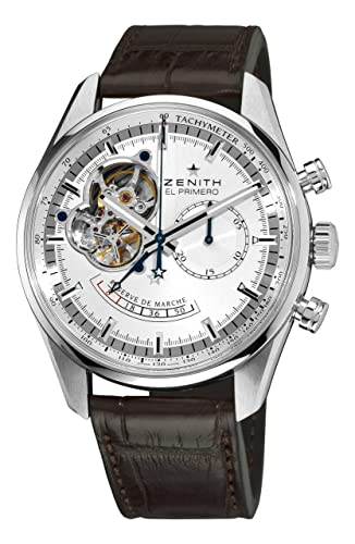 Zenith Men's 03.2080.4021/01.C494 Chronomaster Open Power Reserve Silver Dial Watch
