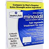 Member's Mark Extra Strength Minoxidil Topical Solution USP 5% Unscented Hair Regrowth Treatment for Men (6 month supply)