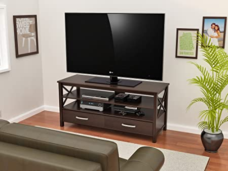 Z-Line Designs Raiden TV Stand, 55-Inch, Brown