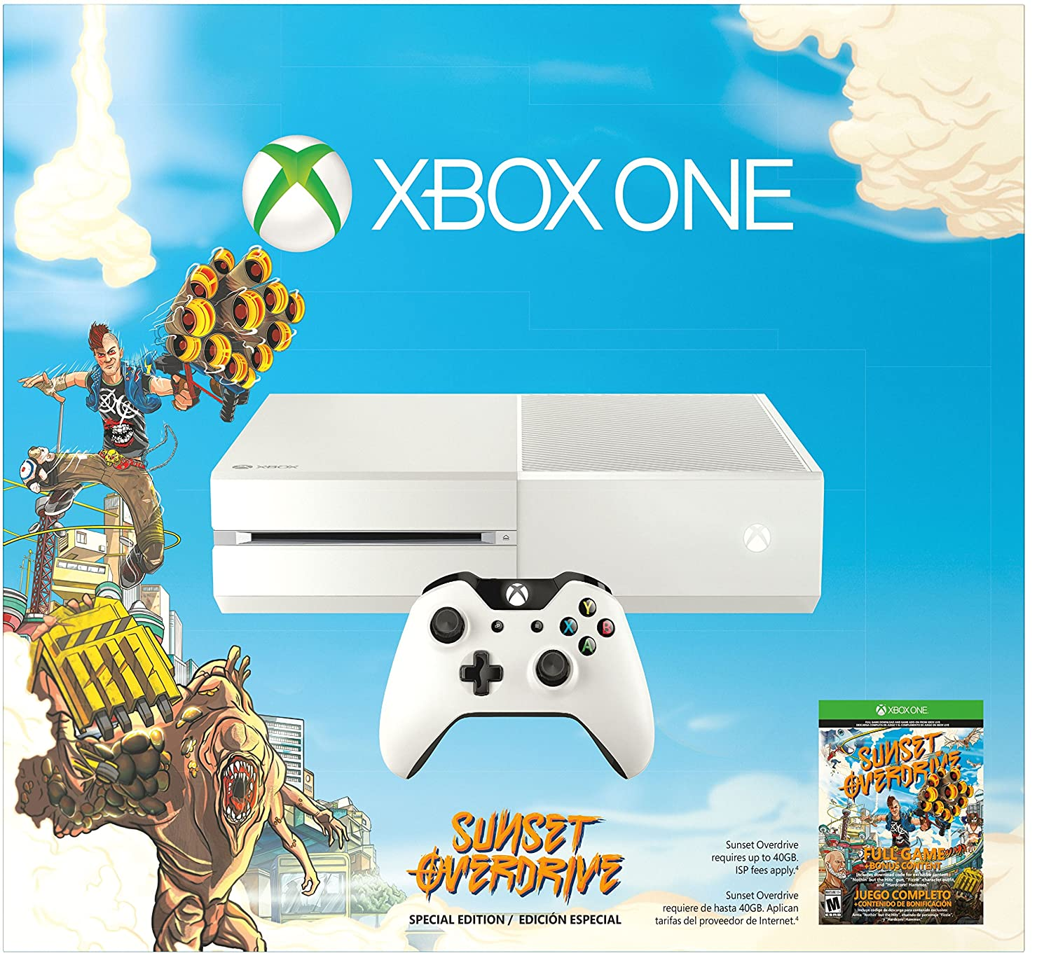 Amazon com Xbox One Special Xbox One White Console Sunset Overdrive
