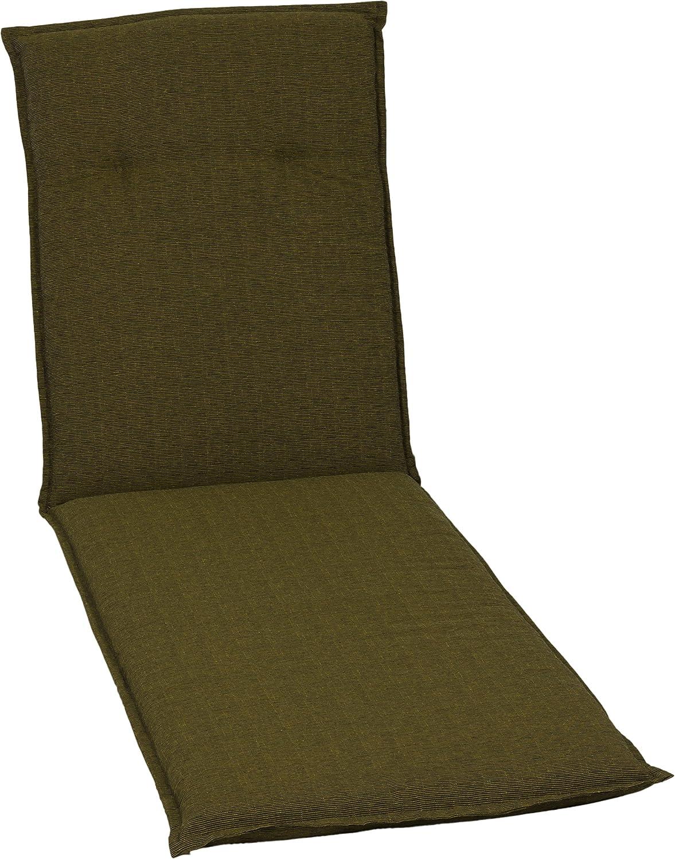Kissen Polster für Rollliege in dunkelbraun strukturiert für Gartenmöbel