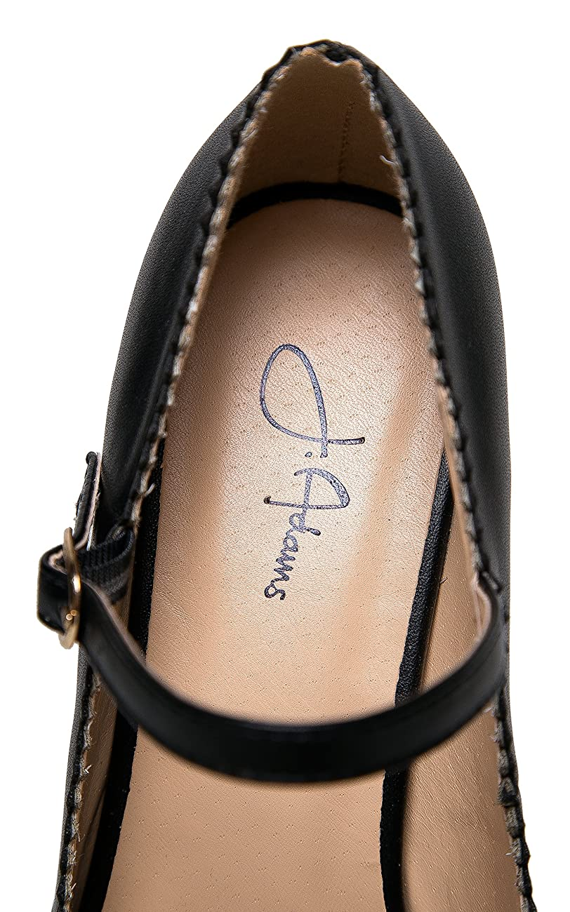 Mary Jane Kitten Heels – Vintage Retro Scallop Round Toe Shoe With An Adjustable Strap - Honey By J. Adams 5