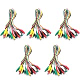 W&G WG-026 10 Pieces and 5 Colors Test Lead Set & Alligator Clips, 20.5 inches (5 PACK)