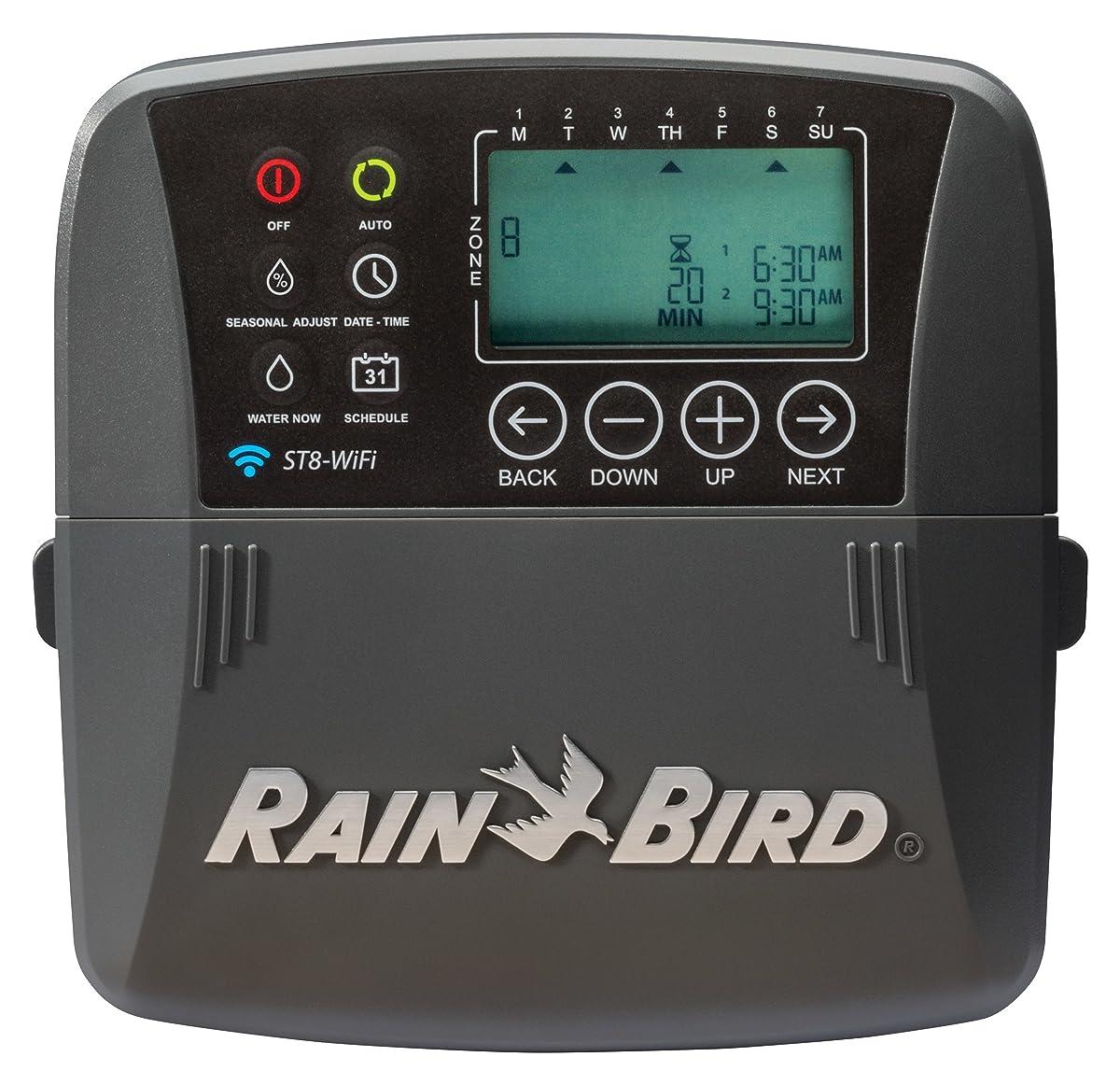 Rain Bird ST8I-WIFI Smart Indoor WiFi Sprinkler/Irrigation System Timer/Controller, WaterSense Certified, 8-Zone/Station