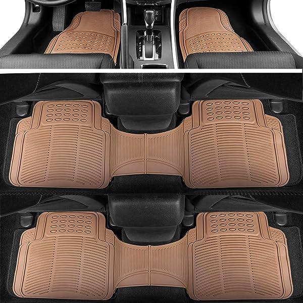 Black BDK MT35 Proliner Weather Rubber Auto Floor Mats and Cargo Liner-Heavy Duty 4Pc Set Fit for Car SUV Van /& Truck