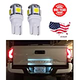 LED Monster 2x 168 194 T10 5SMD LED Bulbs Car License Plate Lights Lamp White 12V (1) (5 SMD)