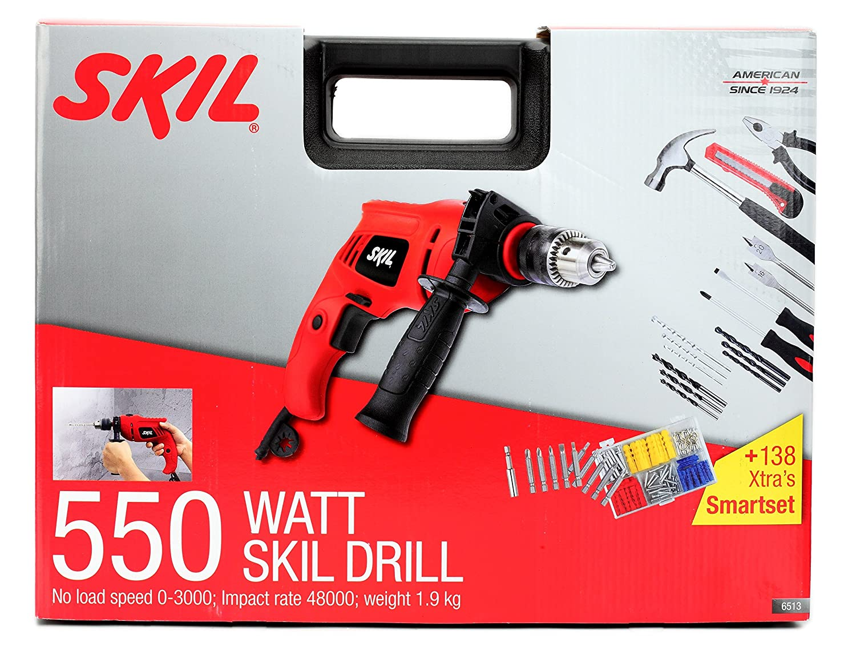 Skil 6513 550 Watts 13 Mm Impact Drill Set (138 Pieces): Amazon: Home  Improvement