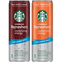 12-Pack Starbucks 2 Flavor Variety Pack Refreshers with Coconut Water