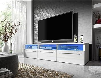 Mueble para TV Lavello con LED blanco / negro