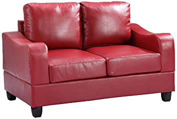 Glory Furniture G629-L Living Room Love Seat, Red