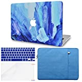 LuvCase 4 in 1 Bundle Rubberized Hard Shell Case with Sleeve, Keyboard Cover and Screen Protector Compatible MacBook Pro 15 Touch Bar Case A1990/A1707 2019/2018/2017/2016 (Oil Paint 5) (Color: Oil Paint 5 with Sleeve, Keyboard Cover and Screen Protector, Tamaño: A1990/A1707 Pro 15