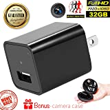 USB Wall Charger with Hidden Spy Camera – Concealed Indoor Camera with 32GB Memory – Motion Activated Video Surveillance – No WIFI Needed Home Security Nanny Camera with 1080p and Audio by Duddy-Cam (Color: Black)