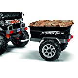 Peg Perego Adventure Trailer Ride On, Black (Color: Black)