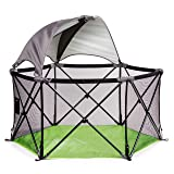 Summer Infant Pop N' Play Ultimate Portable Playard (Color: Green/Black, Tamaño: Playard with 1/2 Canopy)
