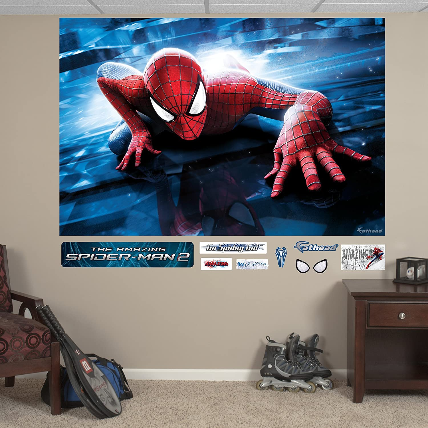 The Amazing Spider-Man 2 Skyline Mural Real Big Wall Decal