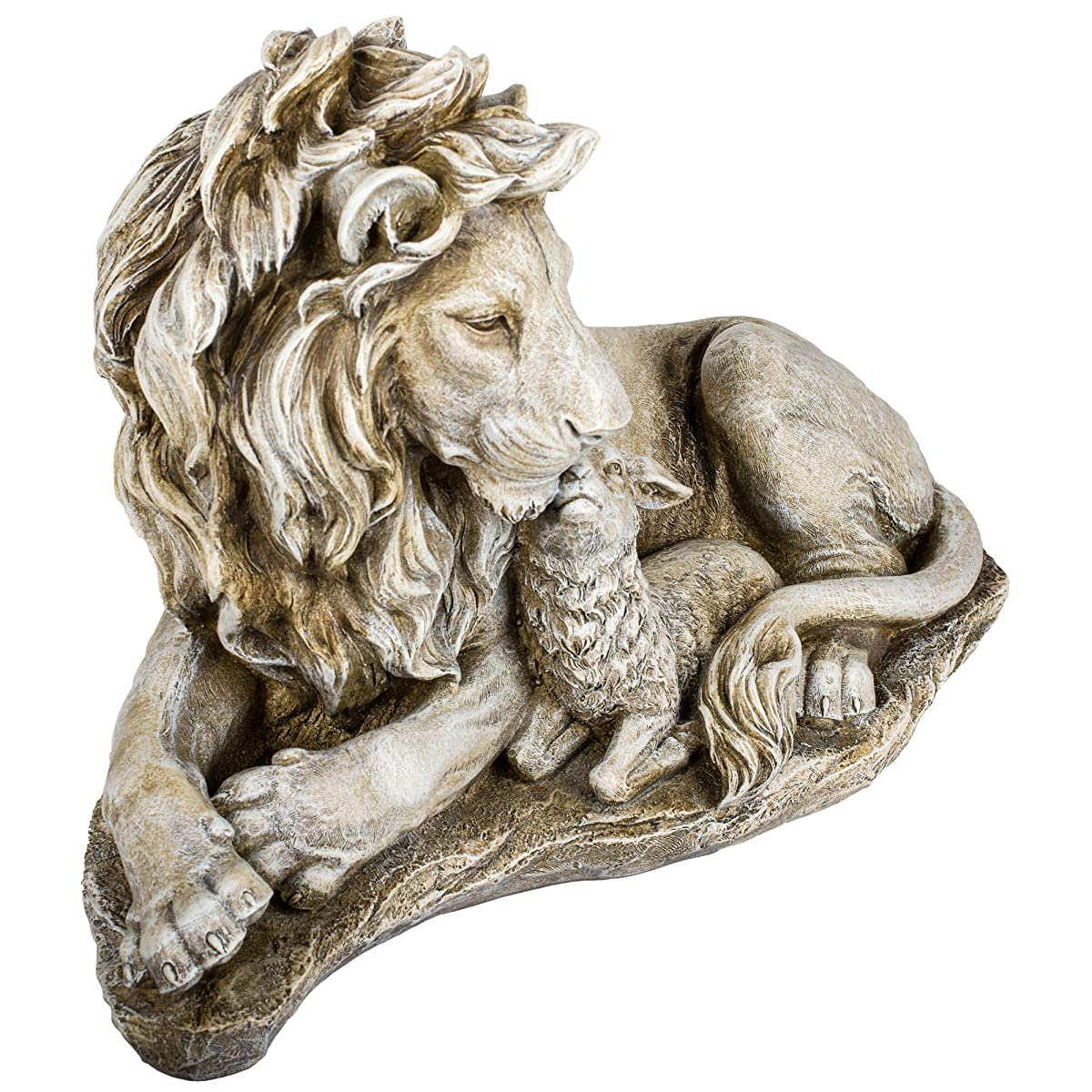 Lion and Lamb Garden Statue