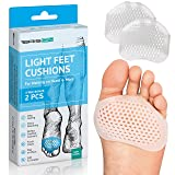 Metatarsal Pads Ball of Foot Cushions - Soft Gel Ball of Foot Pads - Mortons Neuroma Callus Metatarsal Foot Pain Relief Bunion Forefoot Cushioning Relief Women Men