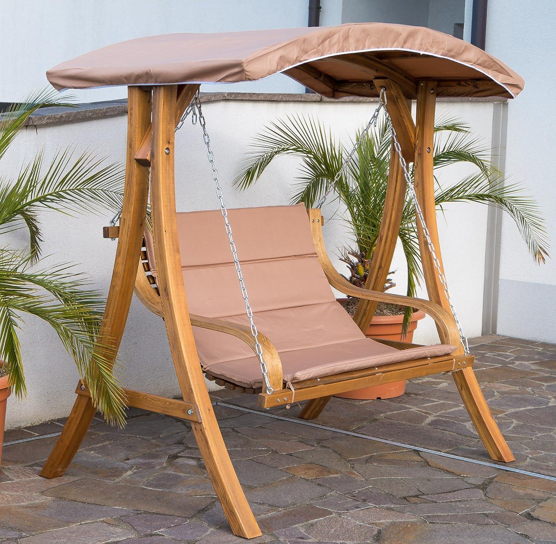 Design Hollywoodschaukel Gartenschaukel Hollywoodliege Doppelliege aus Holz Lärche mit Dach Modell BELIZE von AS-S günstig kaufen