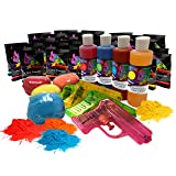 Holi Color Powder Party Box by Chameleon Colors - This Kit is Pure Fun for a Color Run, 5k, Festival, Party, etc. A Colorful Mix of Chalk and Liquid for Variety. (Color: Multi Color)