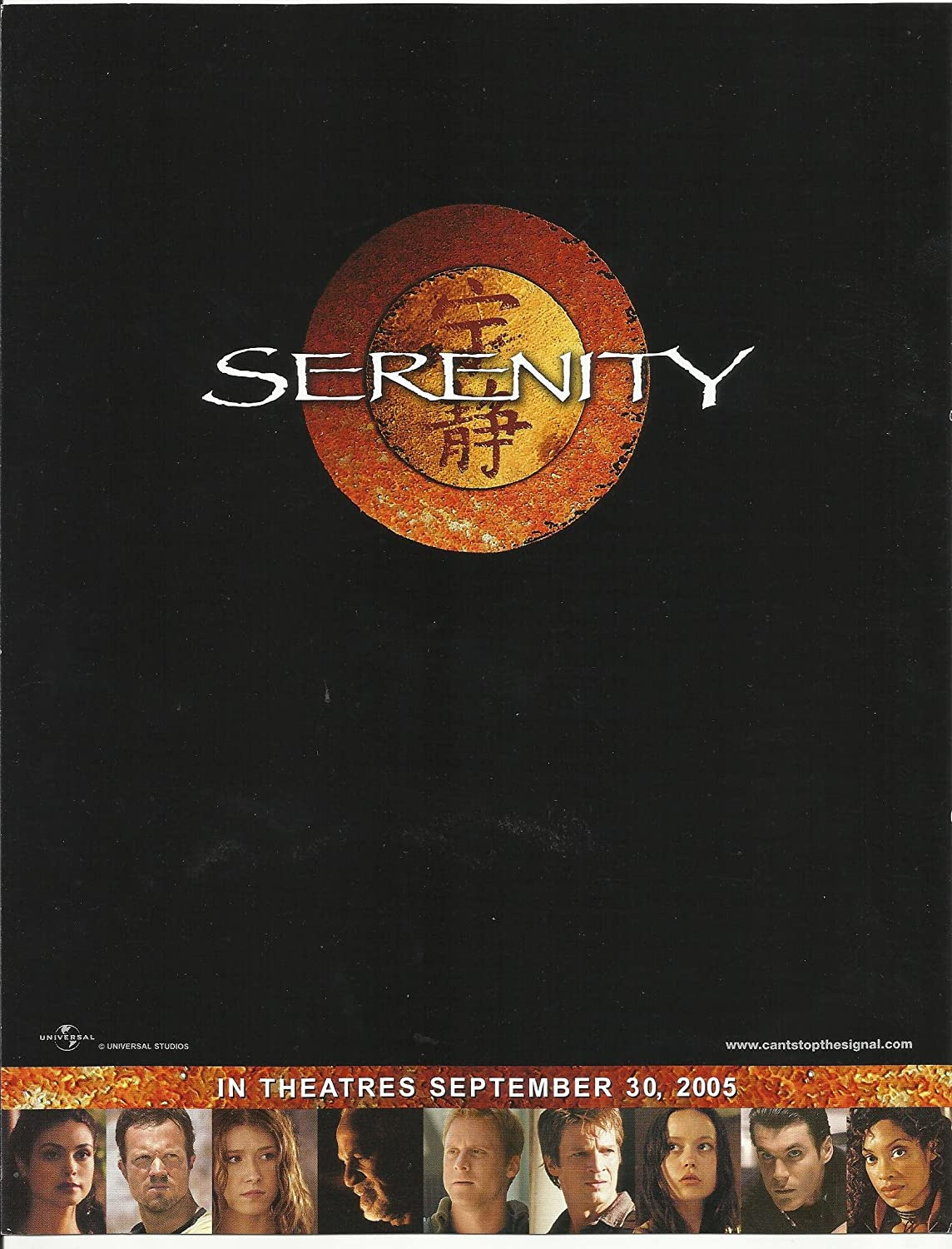 Serenity Nathan Fillion, Gina Torres & Adam Baldwin 8.5 x 11 Cast Promotional Poster #2 serenity