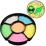 9,000 Glow in The Dark Fuse Beads Set (6 Different Colors) in Case and Separated - Works with Perler Beads - Great Christmas Gift