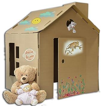 Casetta in cartone da colorare per bambini ecologica e riciclabile le casette per bambini - Casetta in cartone da colorare ...