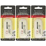 3-Pack - General Pencil Factis Soft Oval Eraser (Tamaño: 3 Pack)