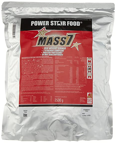 Powerstarfood Mass 7, Erdbeer, 1er Pack (1 x 2.5 kg)
