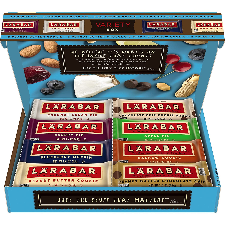 Larabar Variety Box, 8 Flavors, Gluten Free Fruit & Nut Food Bar, 16 bars, 26.4 oz