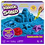Kinetic Sand The One Only Sandcastle Set 1lb Sand, Molds Tools (Colors Vary) (Color: (Colors Vary), Tamaño: Basic Pack)