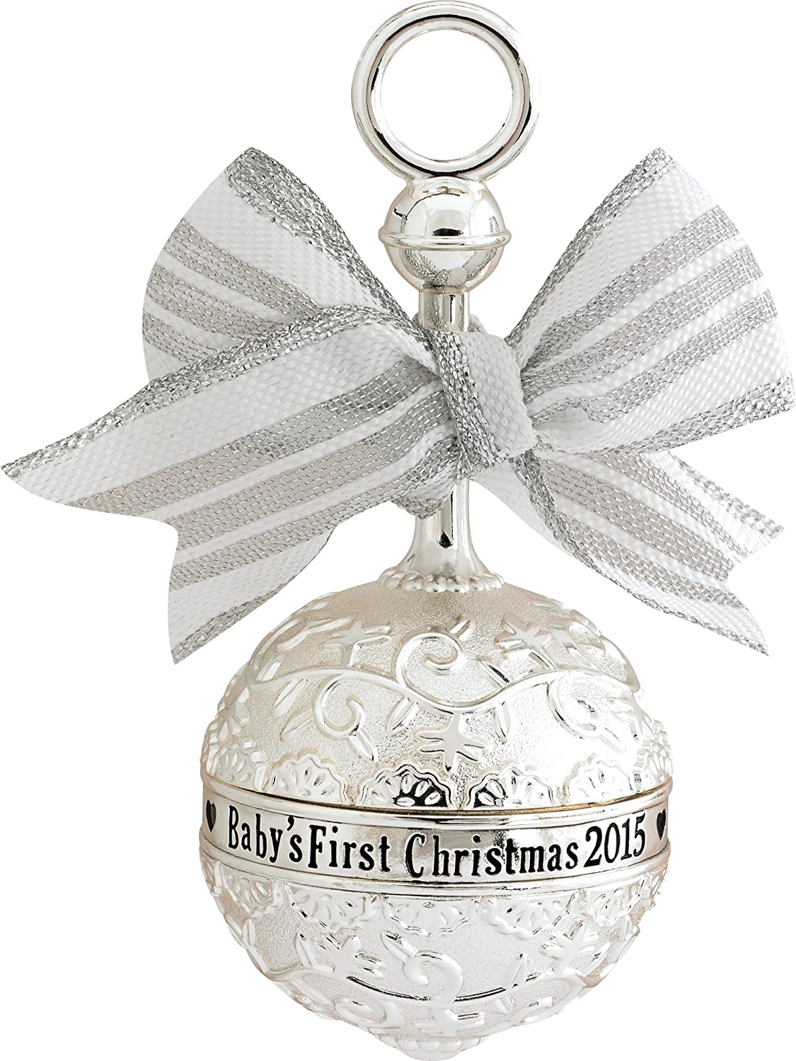 2015 Baby's First Christmas Rattle Carlton Ornament