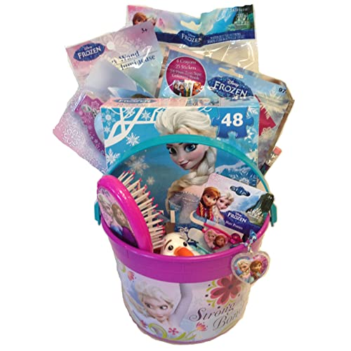 Disney Frozen Princess Elsa & Anna Small 5 Bucket of Fun Set Perfect for Birthday Gift Get Well Easter Basket or any other Special Occassion