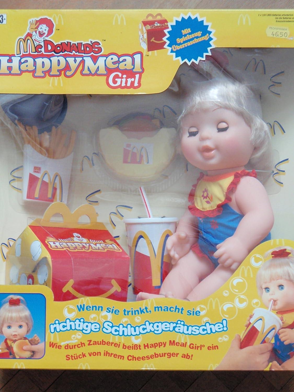 Mc Donalds Happy Meal Girl – wenn Sie trinkt macht sie richtige Schluckgeäusche, wie durch Zauberei beißt sie ein Stück von ihrem Cheeseburger ab günstig