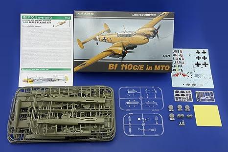Eduard EDK1164 Me110 C/E in MTO 1:48 Plastic Kit Maquette
