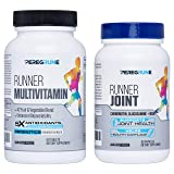 Runner Multivitamin & Joint Support Bundle | Engineered for Runners | Antioxidants: Vitamin C (5X), Vitamin E (2X) | Energy & Vo2 Max: Vitamin B12 (10x) | Joint & Cartilage Support | GMP Certified (Color: White Bottle, Blue Lid, Tamaño: One Month Supply - 1 Bottle per)