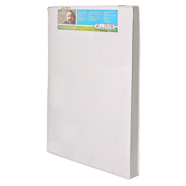 dream on me 3 portable crib mattress white ebay. Black Bedroom Furniture Sets. Home Design Ideas