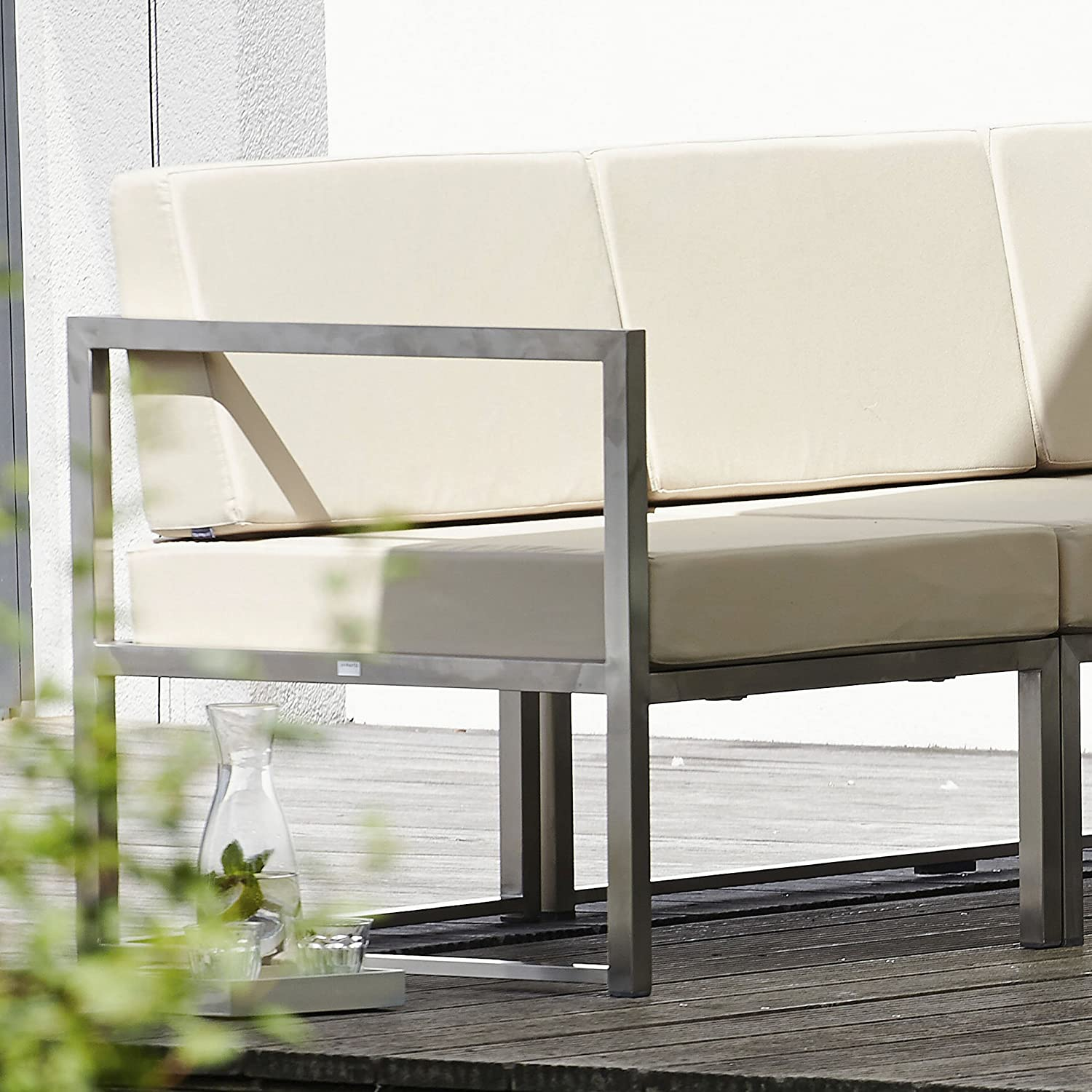 Lux Lounge Eckelement taupe 67 x 67 cm, h 62 cm