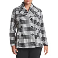 Rampage Carrie Classic Plaid Peacoat