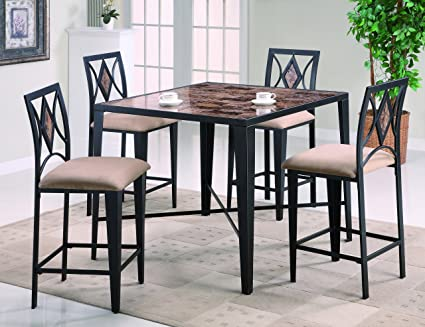 Grayson 5Pk Counter Height Table Set By Crown Mark Furniture