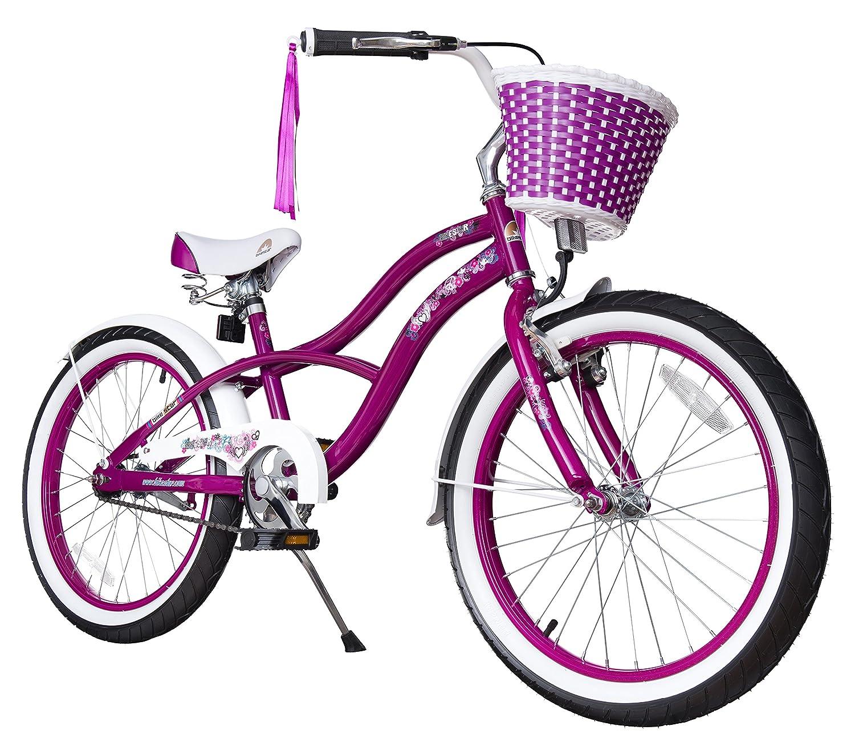 BIKESTAR® Premium Design Kinderfahrrad für coole Kids ab 6 Jahren ★ 20er Deluxe Cruiser Edition ★ Creamy Violet bestellen