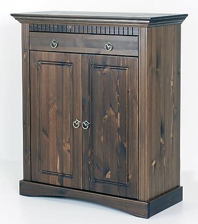 2trg. Cassettiera in legno di pino kolonialfarben, armadio, credenza