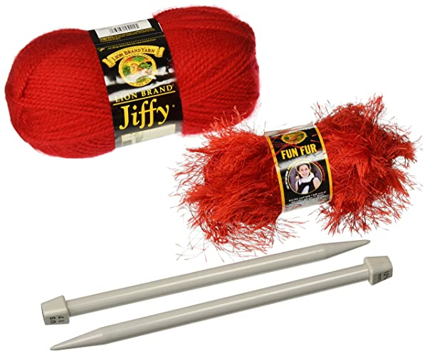 Lion Brand Yarn 600-150 Rio Easy Knit Scarf Kit